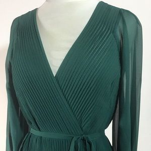 Joie Hunter green sheer blouse. Stunning! Size LG